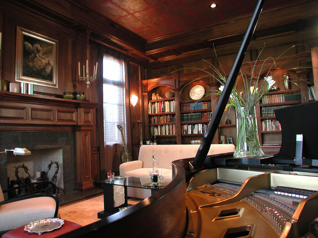 Library Music Room Eclectic Living Room San Diego by