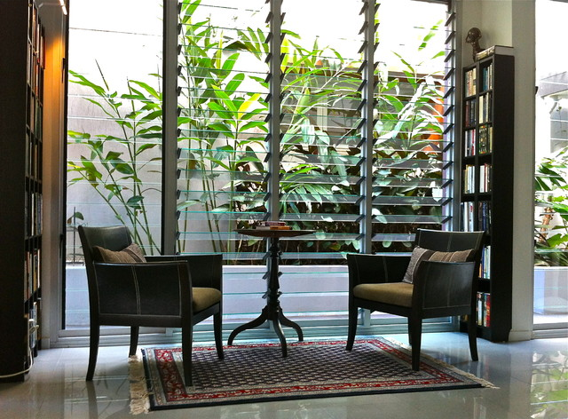 library reading nook tropical living room brisbane