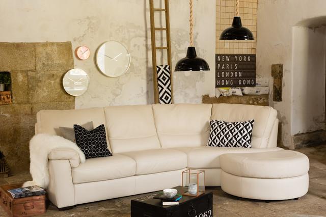 Lido Leather Corner Sofa shabby chic style living room. Lido Leather Corner Sofa   Shabby chic Style   Living Room