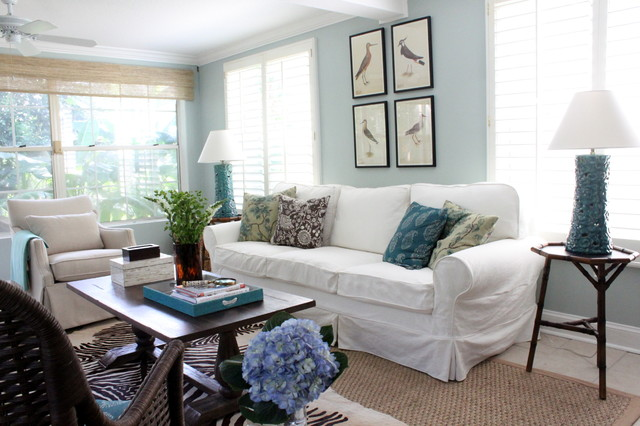 Light And Bright Sunroom Beach Style Living Room
