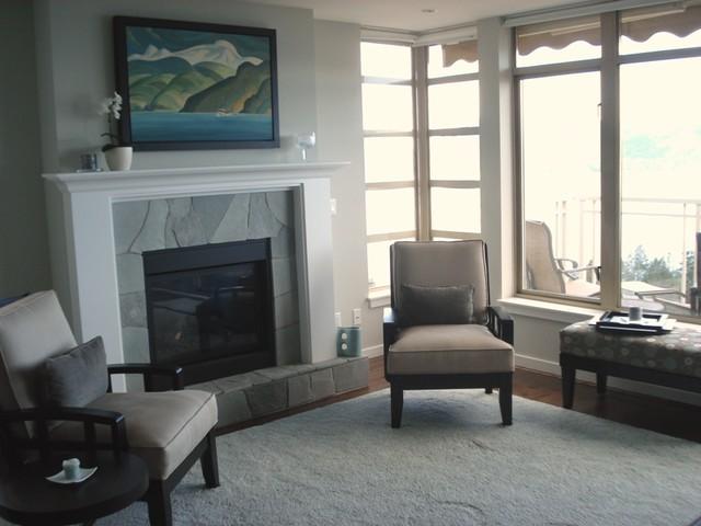 Light bright  living room contemporary-living-room