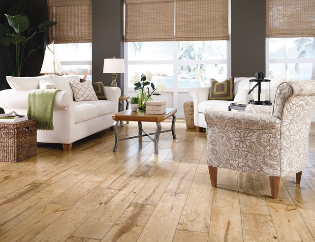 Traditional Living Laminate Flooring traditional living room with crown molding hardwood floors high ceiling carpet window Light Laminate Flooring Mannington Restoration Collection Traditional Living Room