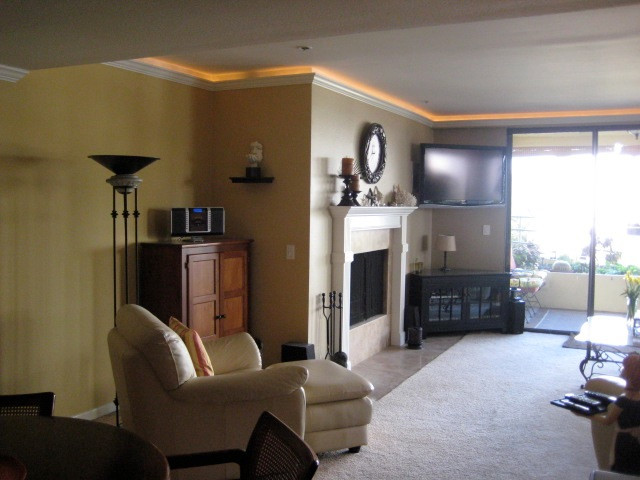 ... Lighted Crown Molding After For Crown Molding In Living Room ...