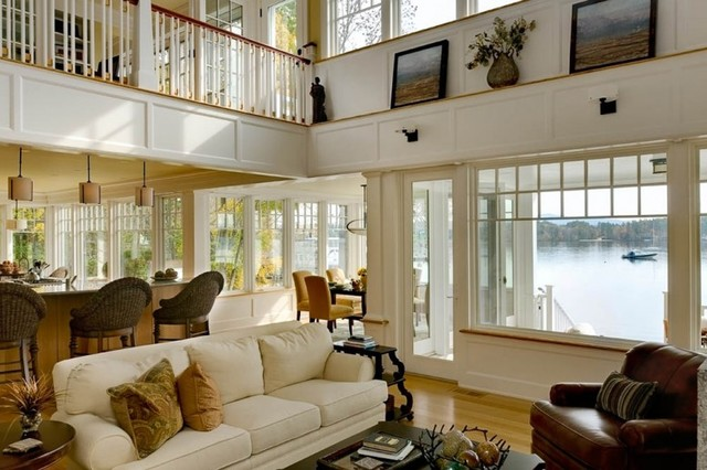 Lighthouse cove cottage traditional living room boston by tms architects - Waterfront home design ideas ...
