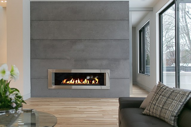 Lightweight Concrete Panels Contemporary Living Room