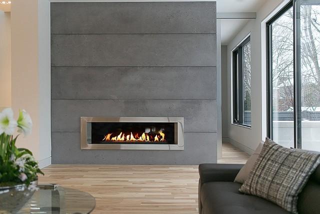 Lightweight Concrete Panels Contemporary Living Room