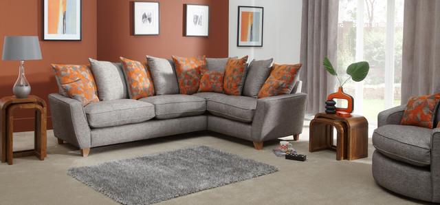 Lily Ter Back Corner Sofa Contemporary Living Room