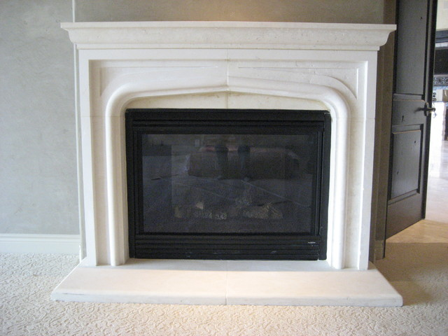Limestone Fireplaces traditional