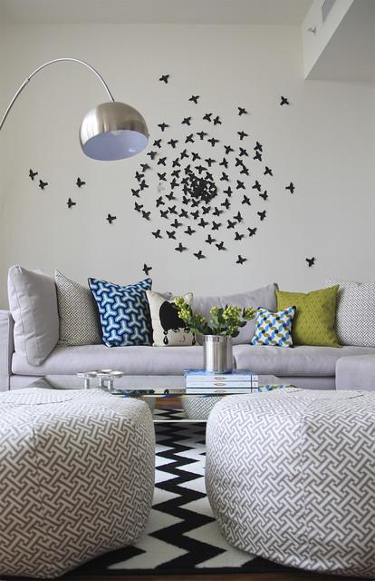 Lin Residence contemporary-living-room