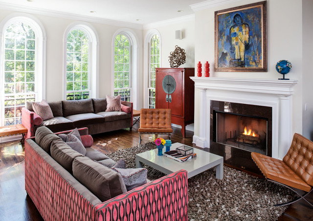 Lincoln Park Family Residence contemporary-living-room