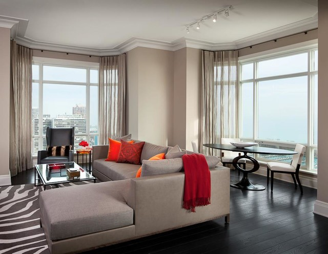 Luxury High Rise Model Apartments Designed By Holly Hunt Interiors