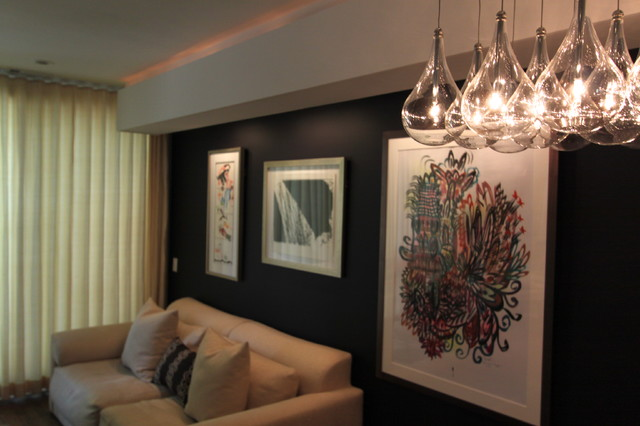 Lincoln Park Townhome -MidCentury modern-living-room