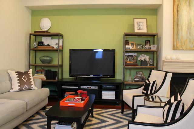 Linda Hayslett contemporary-living-room