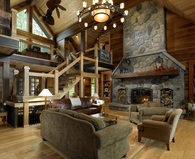 Lindal classic designs traditional living room for Lindal log cabin homes