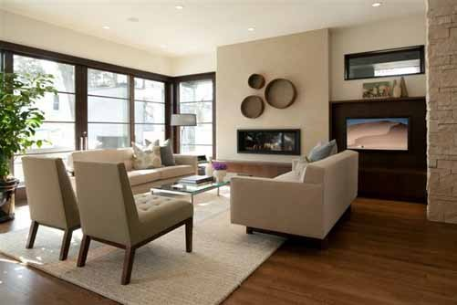 Linden Hills Contemporary contemporary living room