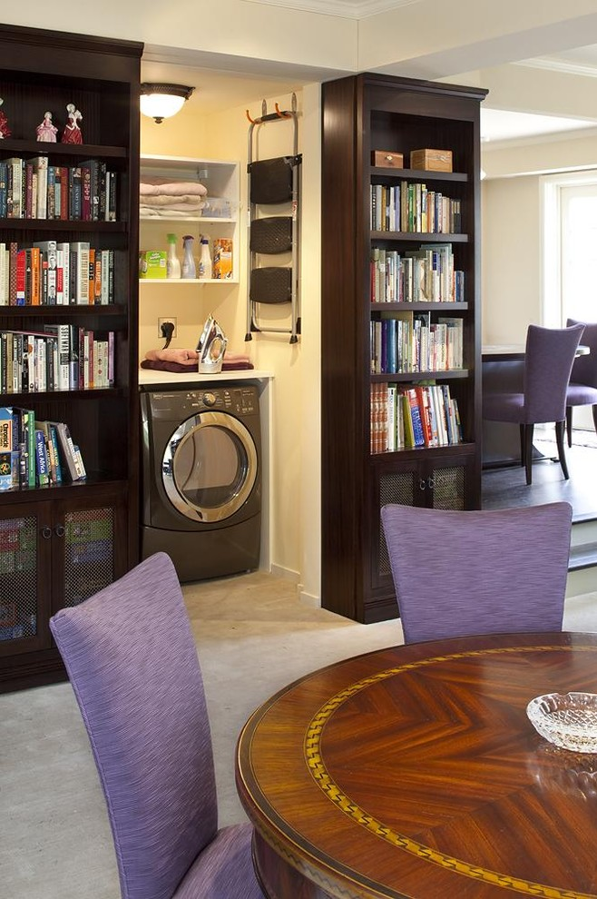 Elegant living room library photo in San Francisco