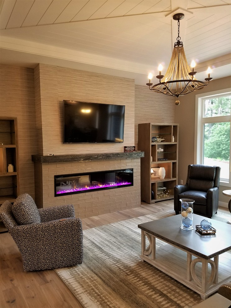 Linear and Modern Fireplace Designs - Modern - Living Room ...