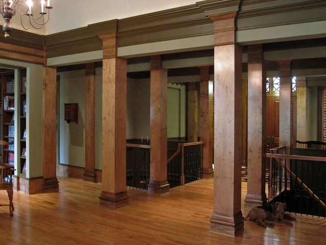 Lines of distinction faux wood grained columns for Craftsman columns