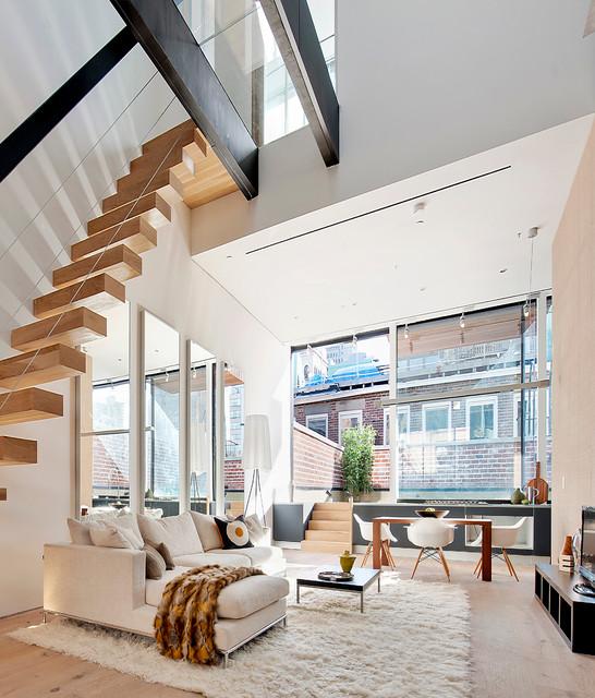 Lispenard Contemporary Living Room New York By