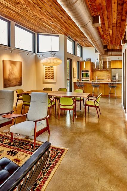 Trendy living room photo in Dallas