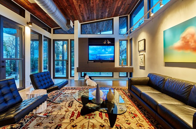 Inspiration for a contemporary living room remodel in Dallas