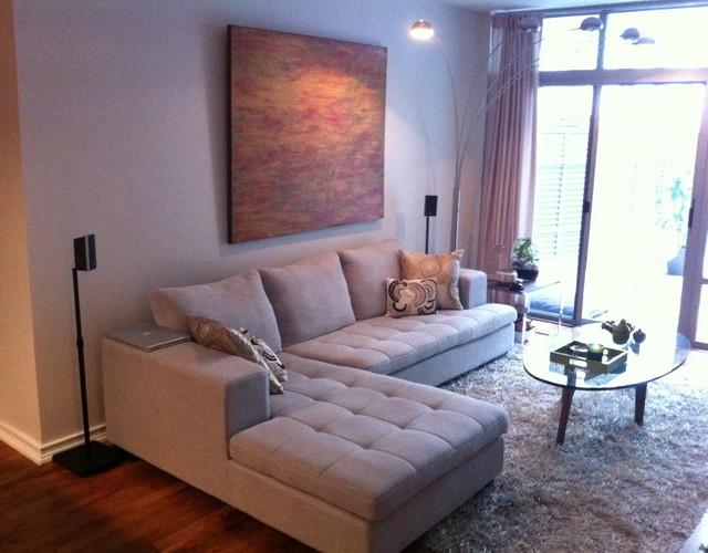 Little Italy Condo Redo Traditional Living Room San