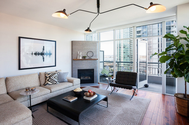 Little italy condo contemporary living room san for Apartment design italien