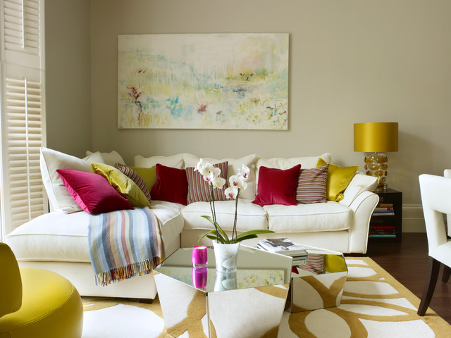 Gold Living Room | Houzz