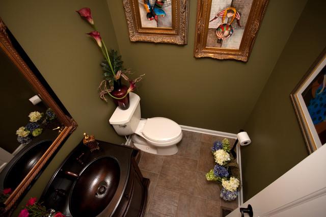 Lively Living Room Angle - Half bath color schemes