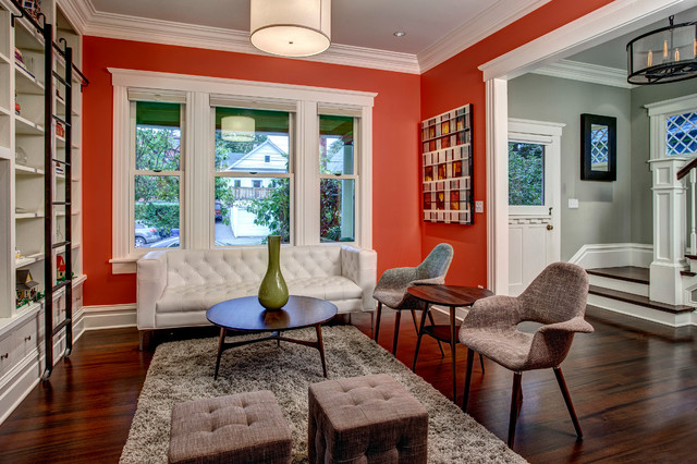 Living And Entry Craftsman Living Room Seattle By Board Amp Vellum