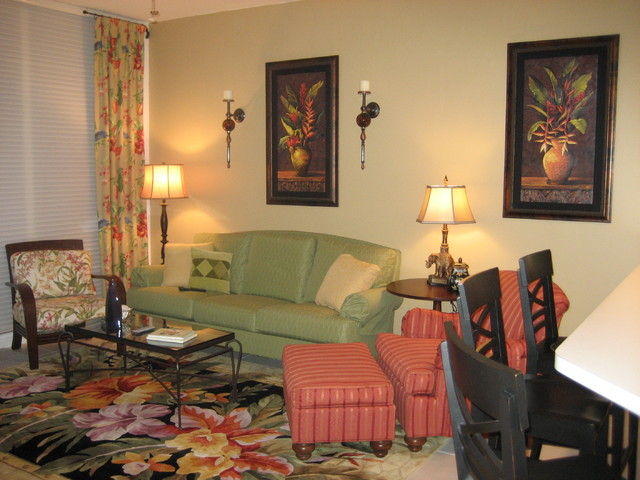 Tropical Living Room Hot Girls Wallpaper