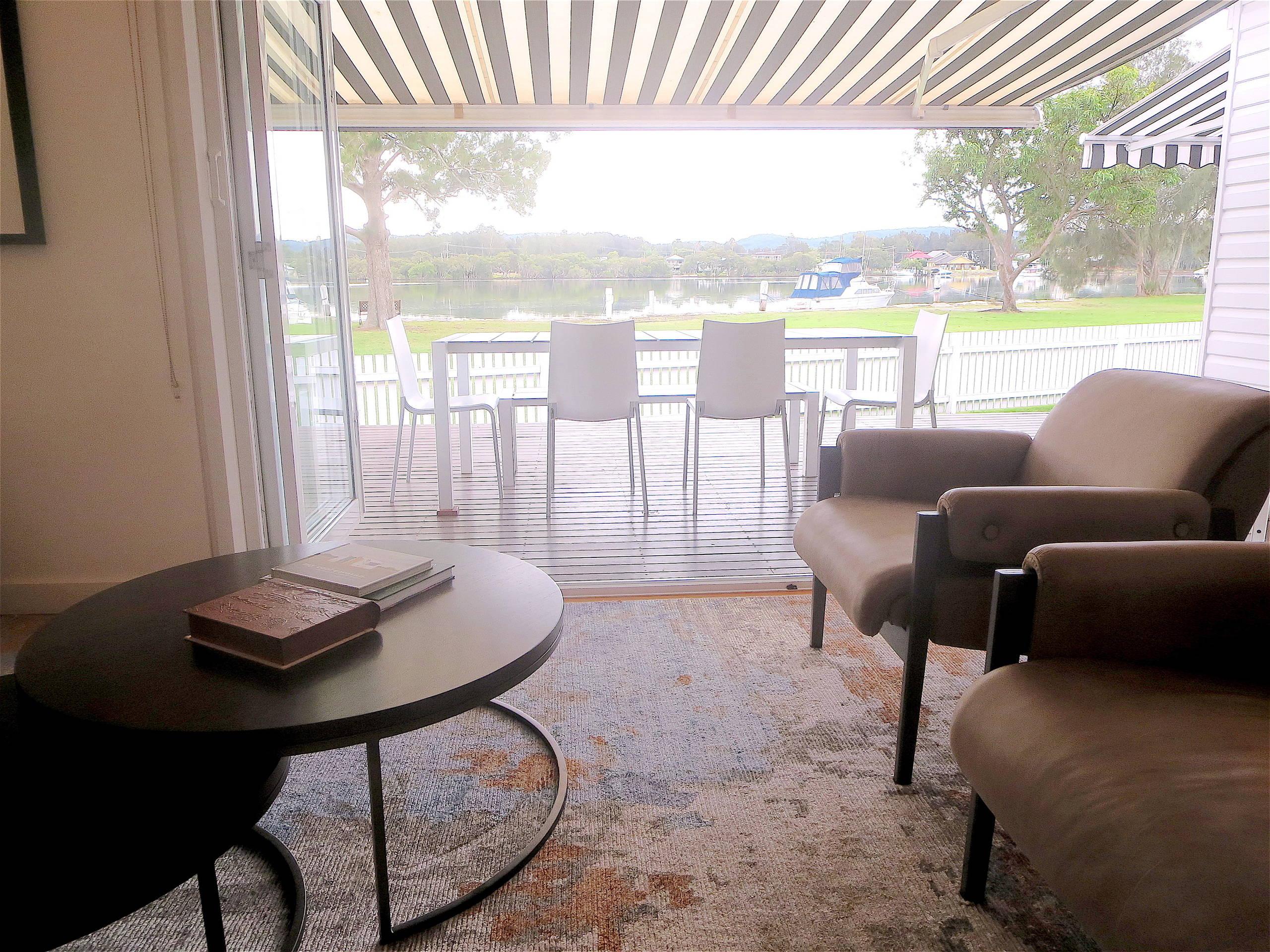 Living Area with bi-fold doors to back verandah