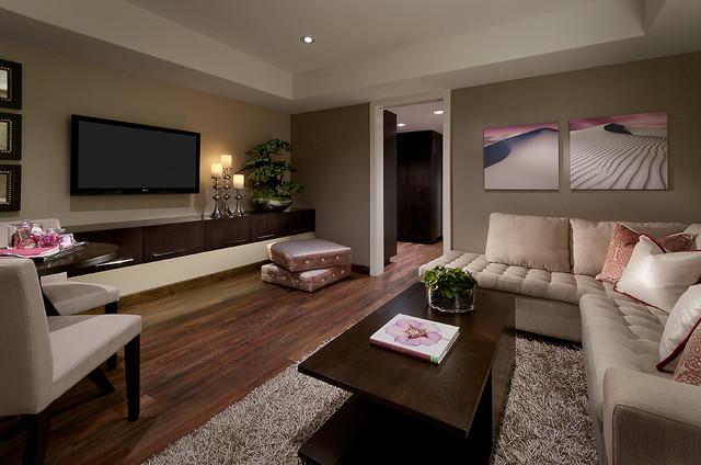 Living area with Luxury Vinyl Plank Flooring  : contemporary living room from www.houzz.com size 640 x 424 jpeg 79kB