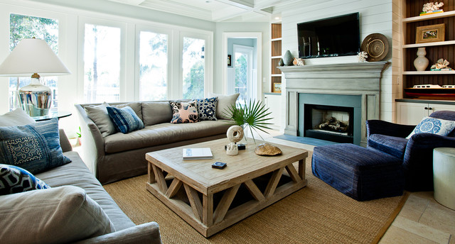 Living Contemporary Living Room Charleston By Hostetler Custom Cabinetry
