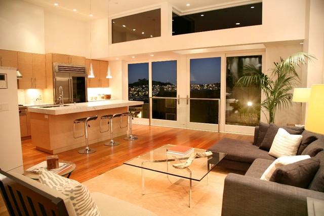 Living kitchen dining minimalistisch wohnbereich san