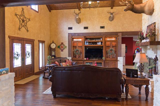 Wrap Around Porch farmhouse-living-room
