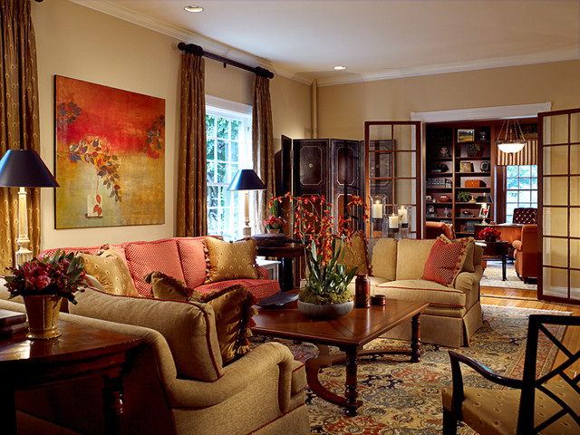 Fava design group asian living room baltimore by Asian decor living room