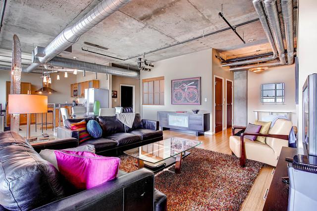 Living room 1401 wewatta street 718 industrial for The family room denver