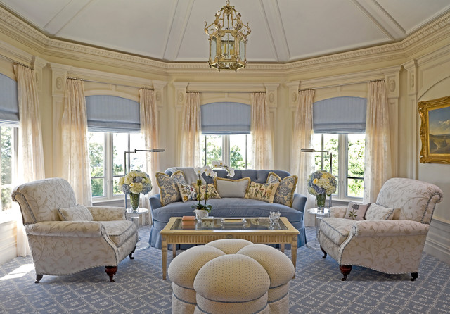 Traditional Living Room By Lauren Ostrow Interior Design, Inc