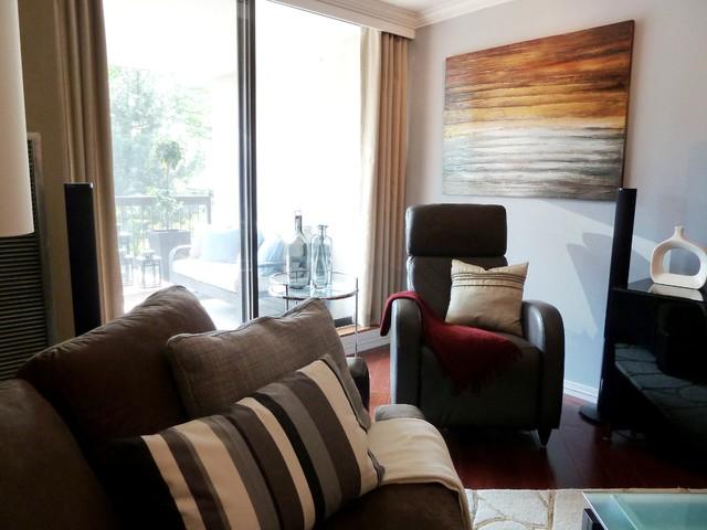 Living Room - A Masculine Transformation modern-living-room