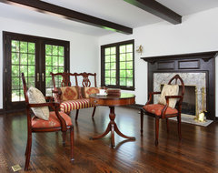 Living Room Addition in Tudor Style Home traditional-living-room