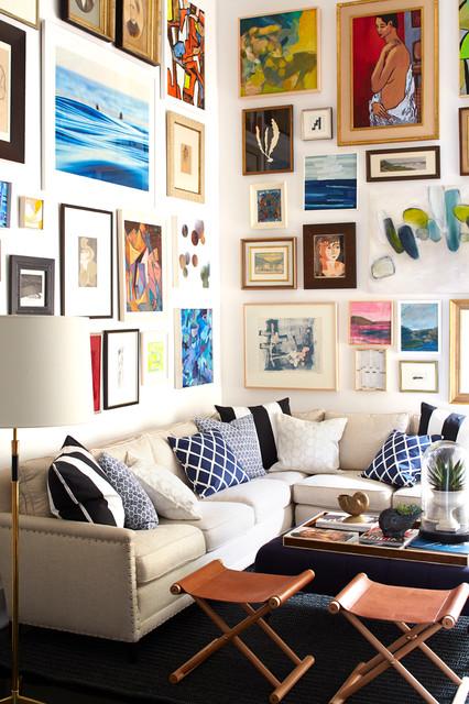 Living Room & Art Wall traditional-living-room