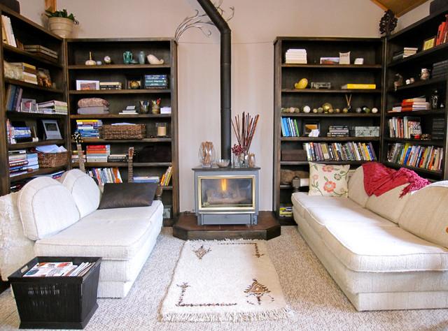 Living Room & Bookshelves eclectic-living-room