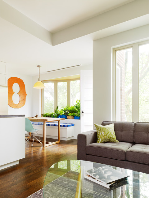 Living Room And Kitchen Williamsburg Renovation Contemporary Living Room New York By