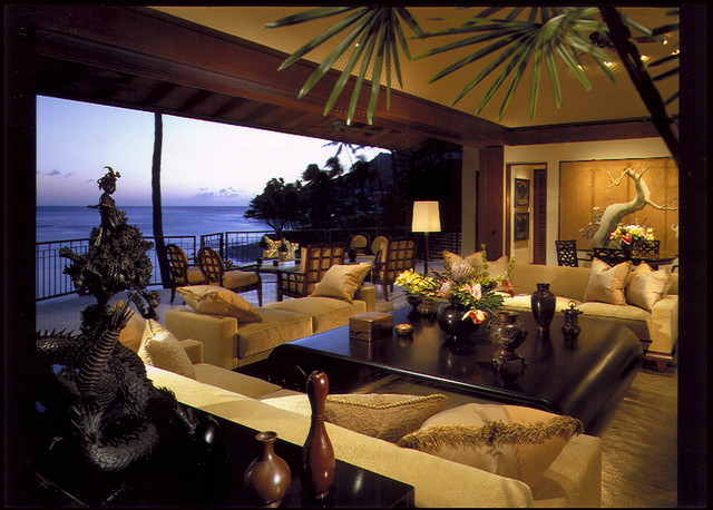 Living Room Amp Lanai Tropical Living Room Hawaii By