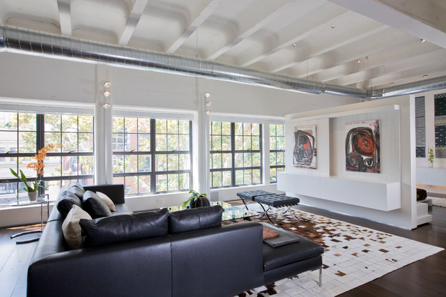 Living Room Media Center Industrial Living Room Other Metro By