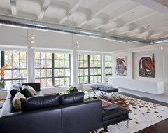 Living Room & Media Center industrial-living-room