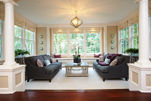 Charming Living Room And Sunroom Combo Traditional Living Room