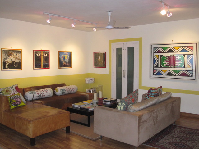 living room art gallery tropical living room other metro
