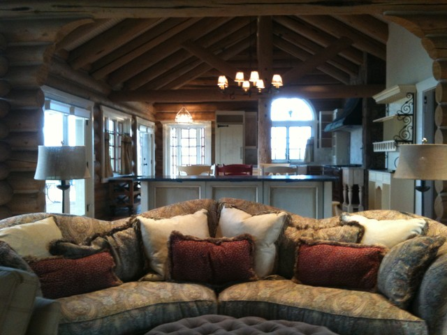 Living Room At The Log Cabin